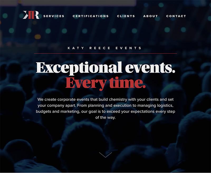 Katy Reece Website - Bluezoom