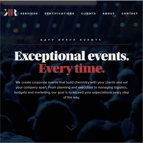 CORPORATE EVENTS WEBSITE