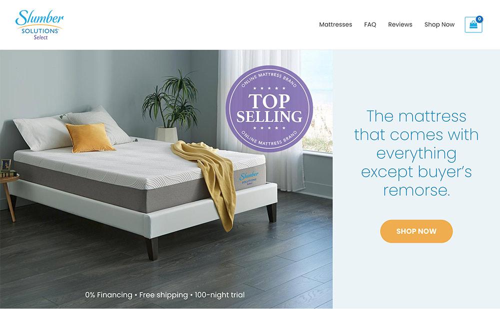 Slumber Solutions Website
